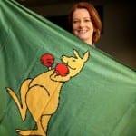 Kangaroo Knitting Pattern Julia Gillard : Boxing Kangaroo History Australian Flags